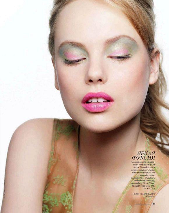 Magazine: #Elle #Russia,Photographer: Shoky Van der Horst Featuring: Luize Salmgrieze Stylist: Nathalie Croquet #Makeup: Gaelle March Hair: Patrice Delaroche
