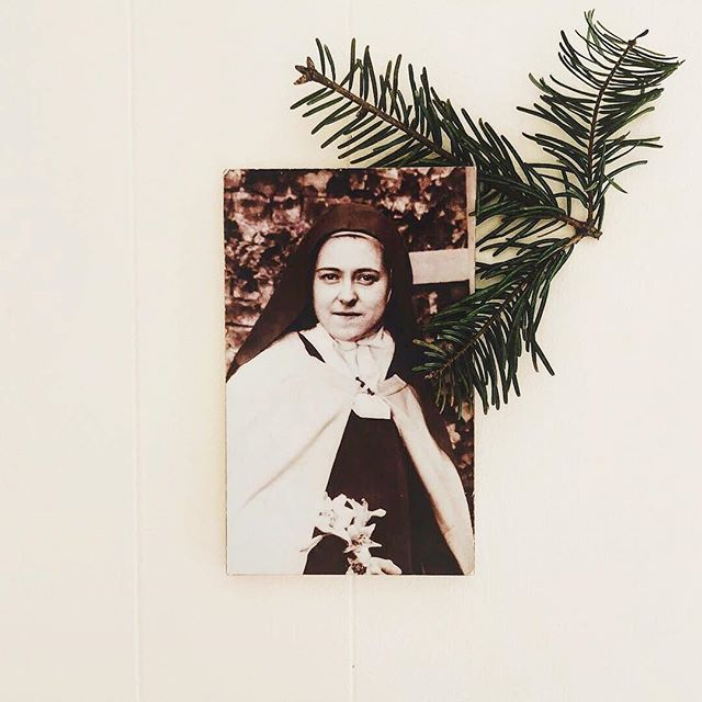 """""""The splendor of the rose and the whiteness of the lily do not rob the little violet of its scent nor the daisy of its simple charm. If every tiny flower wanted to be a rose, spring would lose its loveliness."""" - St. Thérèse de Lisieux #WomenWhoInspire #TheCatholicWoman  .  Photo by @findingphilothea 💕"""