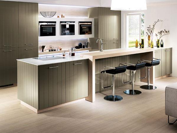 modern landelijk interieur - bar aan keuken