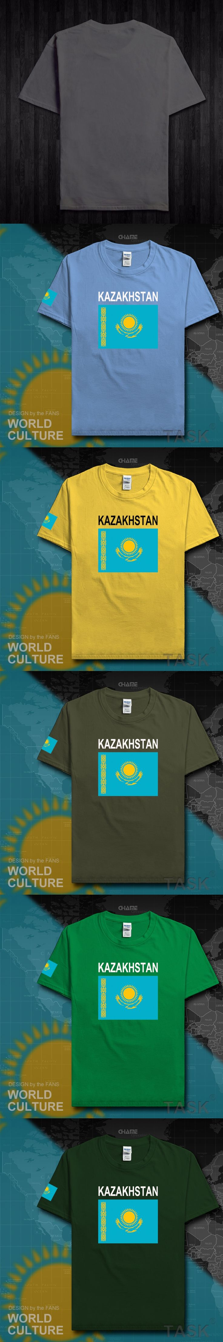 Kazakhstan men t shirt 2017 jerseys nation team tshirt tops t-shirt crossfit Kazakh clothing tees country flag KZ Kazakhstani