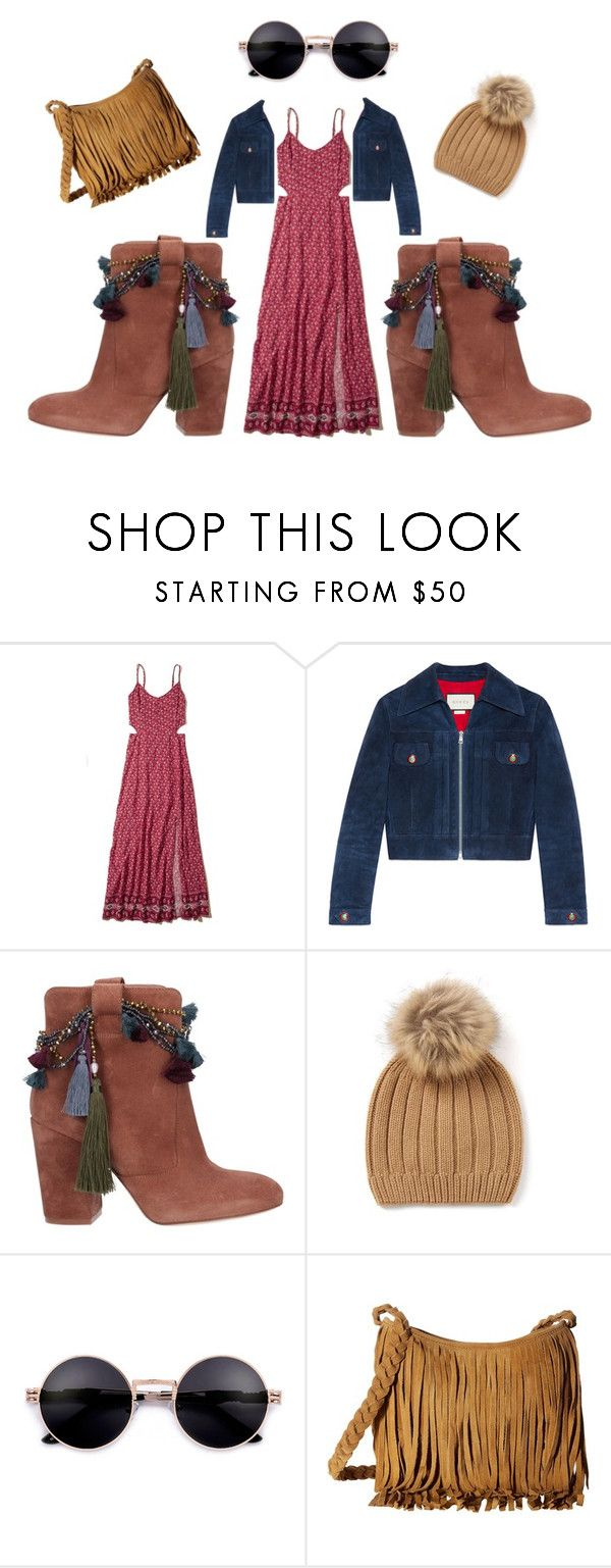 """Toast"" by jess-heppell-designer on Polyvore featuring Hollister Co., Gucci, Strategia, Scully, Fall, boho and gypsy"