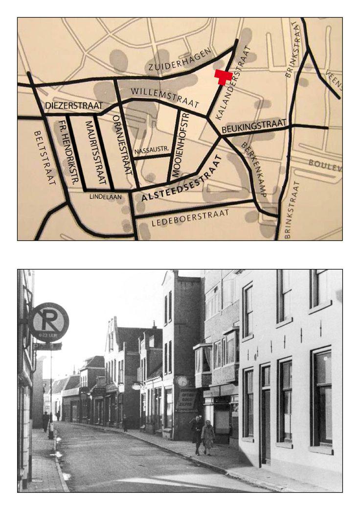 De Kalenderstraat bestaat nog steeds echter dit deel is verdwenen. dit is de Kalanderstraat richting Willemstraat.