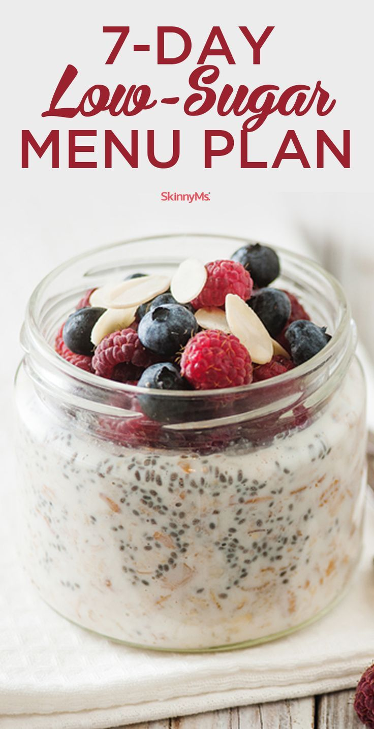 If you're ready to make a big-time impact on your health then try this 7-Day Low-Sugar Menu Plan!