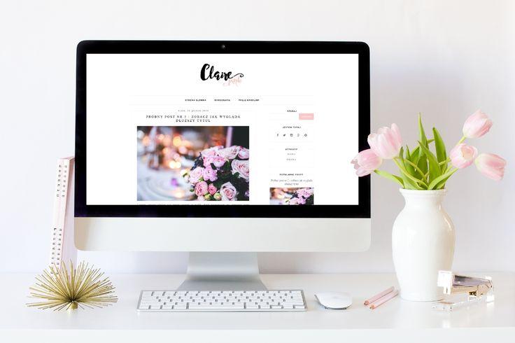 Free blogger minimalist template  Darmowy szablon blogger / blogspot