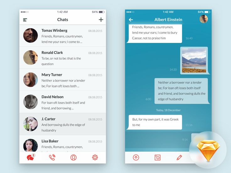 Hi. Here is a simple chat app ui. Follow the link and grab .sketch file https://dribbble.com/shots/2575473-Messaging-App-UI-Freebie