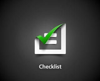 A cleverly-done checklist logo.