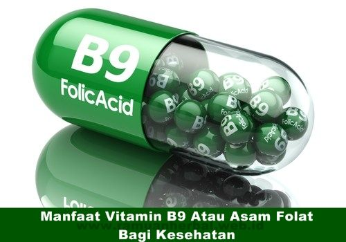 Manfaat Vitamin B9 Atau Asam Folat Bagi Kesehatan  Manfaat kesehatan dari vitamin B9 atau juga dikenal sebagai asam folat, termasuk pencegahan gangguan jantung, stroke, kanker, dan cacat lahir selama kehamilan. Hal ini juga membantu dalam pembentukan otot, peningkatan sel, pembentukan hemoglobin, dan bahkan memberikan bantuan dari gangguan mental dan emosional.  http://www.ramuanherbal.web.id/manfaat-vitamin-b9-atau-asam-folat-bagi-kesehatan/