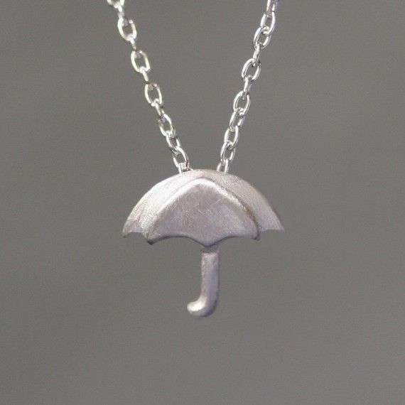 Umbrella necklace: Umbrellas Necklaces, Change Jewelry, Sterling Silver, Umbrellas Pendants, Tiny Umbrellas, Style Pinboard, Accessories, Jewelry Stuff, Michelle Change