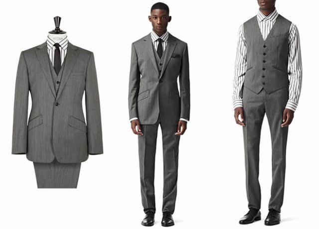Серый костюм сочетания