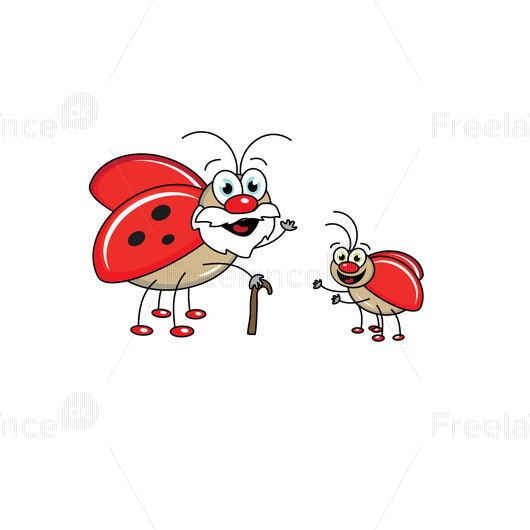 Red beetles. Ready graphics are not expensive.