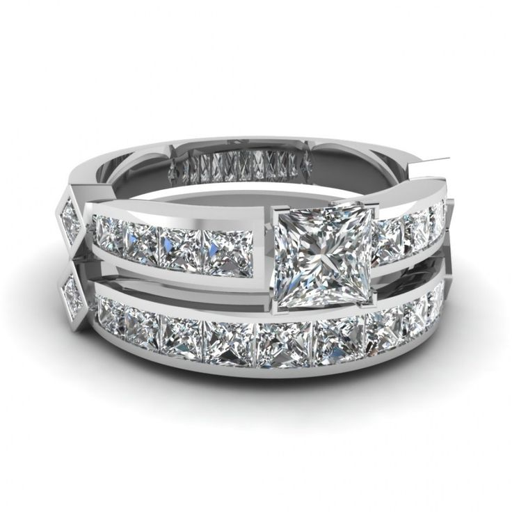 Camo Wedding Ring Sets With Real Diamonds