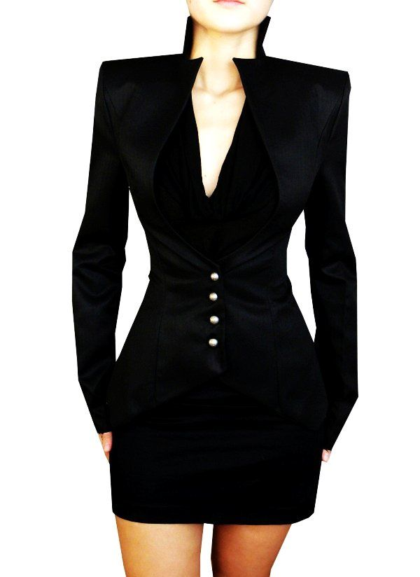 Professional Business Suits for Women - Black Slim Business Suits for Women - LoveItSoMuch.com