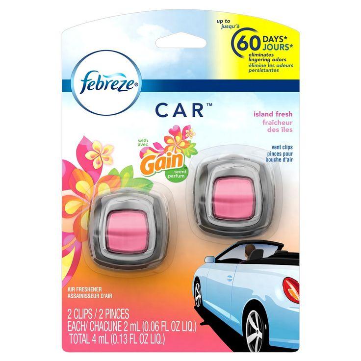 Febreze Car Vent Clip with Gain Island Air Freshener 0.13 oz