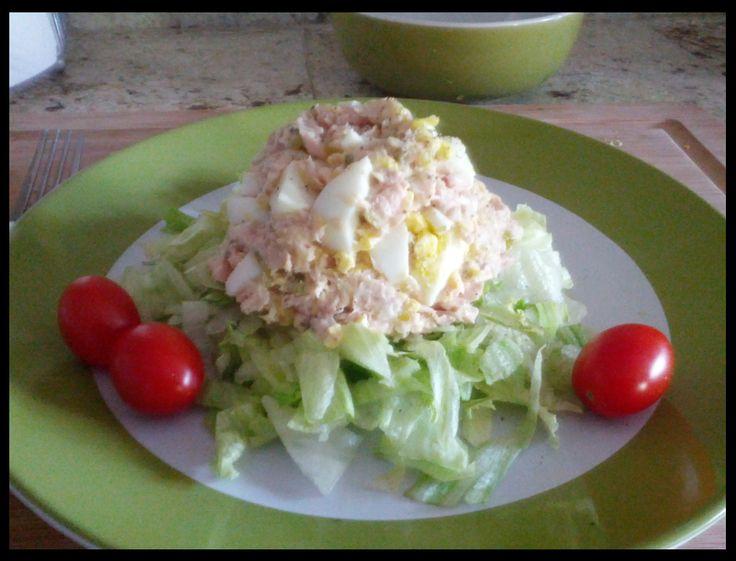 Perfect Tuna and Egg Salad (mayo free and yummy too!)