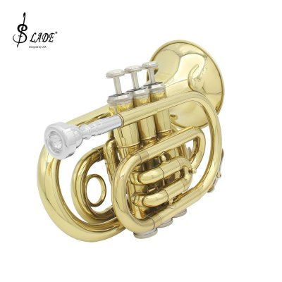 LADE Professional Pocket Trumpet in Bb Beautiful Musical Instrument for Beginner / Professional Player #shoes, #jewelry, #women, #men, #hats, #watches