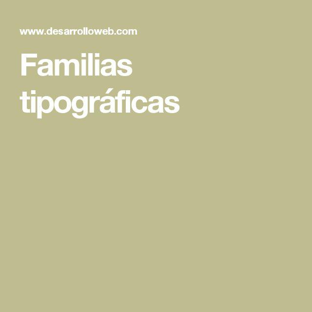 Familias tipográficas