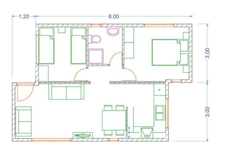 Plano Casa Funcional Moderna