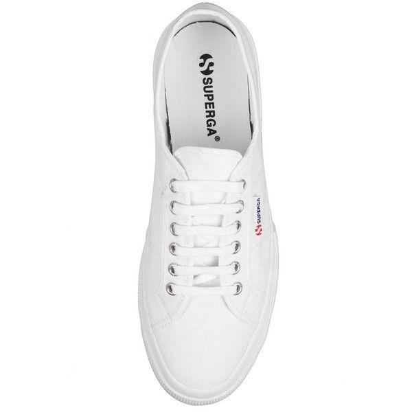 Superga White 2750 Cotu Classic Plimsolls ($55) ❤ liked on Polyvore