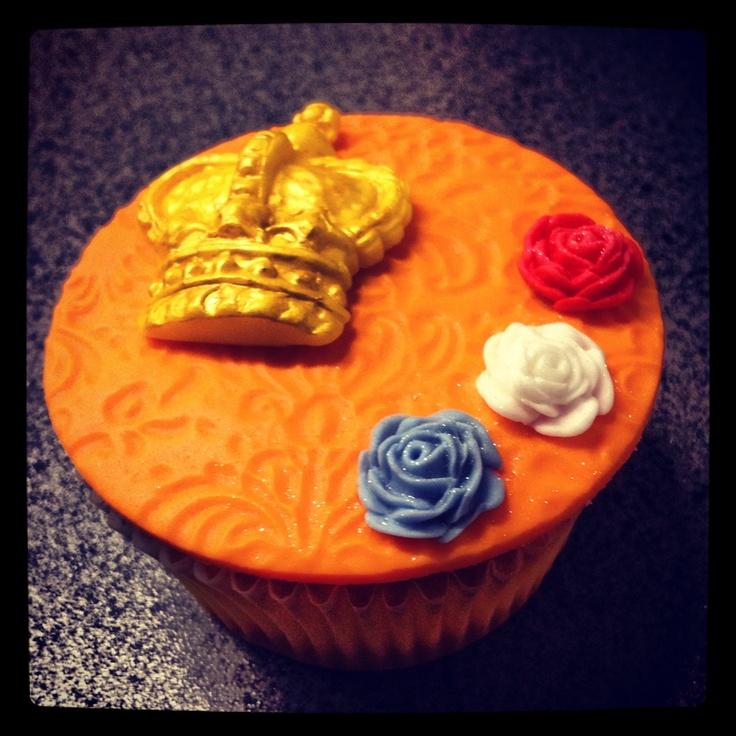 Koningsdag Royal Cupcake by Taart Nouveau