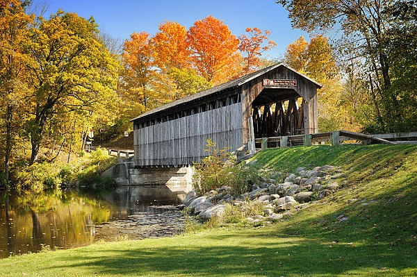 Fallasburg Covered Bridge, Lowell, Michigan by Michigan Nut Photography