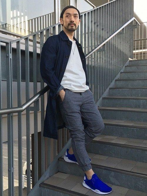 ホワイトとブルーでさわやかに  ヘリンボーンジョガーパンツ (Gap/Color:ダークグレー/¥7,900/ID:787111/着用サイズ:XS) コート (LANVIN x ACNE) ショートスリーブスウェット (MARNI) スニーカー (Nike Sock Dart SE)  ■Gapストア mozoワンダーシティ店 http://mobile.gap.co.jp/stores/sp/store.php?shopId=37593959 ■オンラインストアはこちら http://www.gap.co.jp/browse/subDivision.do?cid=5063 ■GapストアスタッフコーデをWEARで見る(Men) http://wear.jp/gapjapanmen/