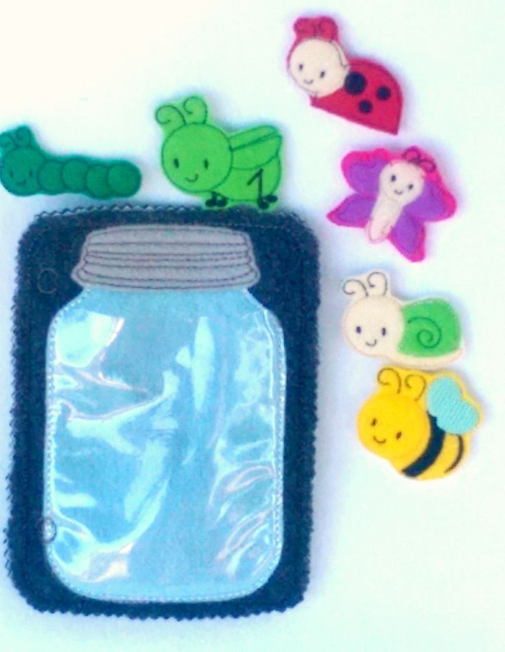 Bug and insect jar activity Quiet book addon page