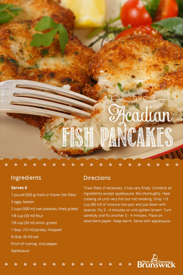 RECIPE: Acadian Fish Pancakes | Try this traditional Acadian recipe that's made extra delicious when served with home-made apple sauce.
