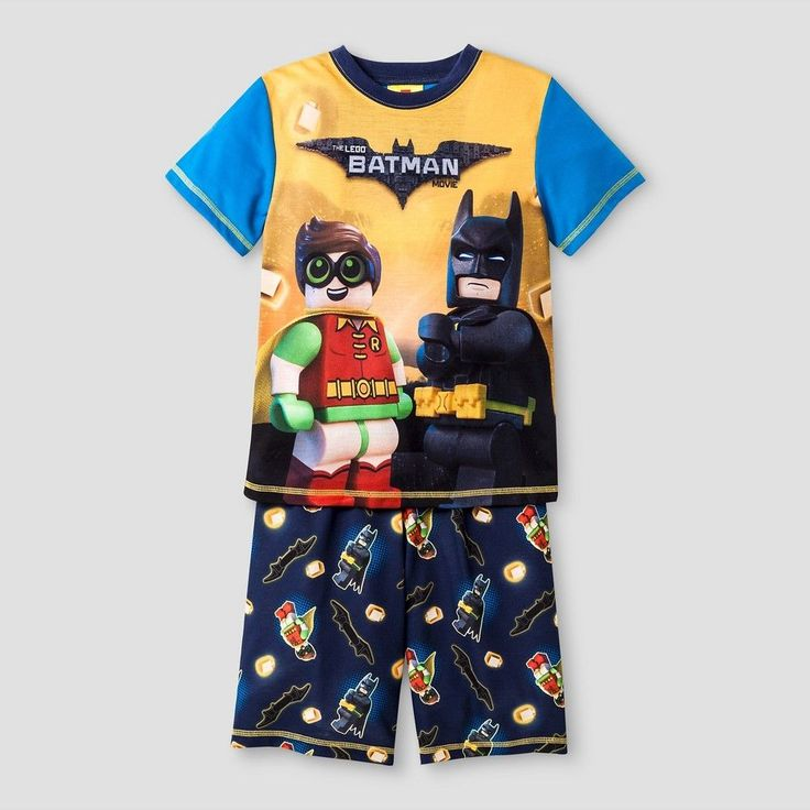Boys' The Lego Batman Movie Pajama Set - Blue L, Boy's, Size: 10-12