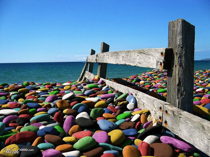 Colorful Pebble Beach The Best Beaches In World