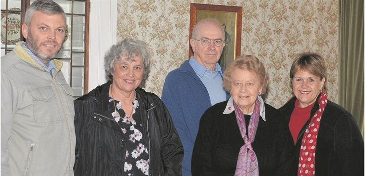 SAYING GOODBYE: Grizel Hart (far right) retired as curator from 7 Castle Hill Museum last month. Saying goodbye from left are board members Bryan Wintermeyer, Jenny Bennie, Nielen Schaefer, Merlin Nell and Grizel Hart. Photo:SUPPLIED
