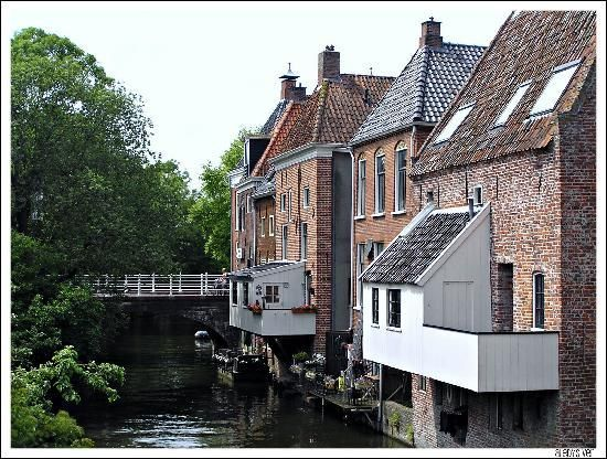 Hanging kitchens in Appingedam, in the province of Groningen