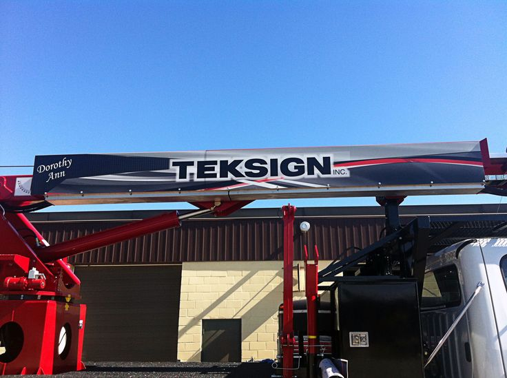 """A job complete! The newest member of TekSign's fleet: """"Dorothy Ann"""" is the first to have be wrapped up with the new graphic designs. Graphics designed, manufactured, and installed by Side Effects Graphics."""