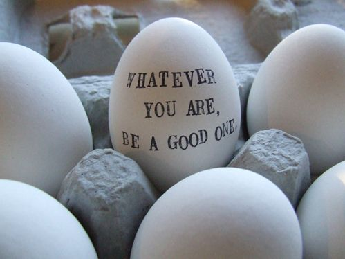 The good egg...: Texts, Thoughts, Hands Stamps, Golf Ball, Abraham Lincoln Quotes, Ceramics, Easter Eggs, Nests, Messages