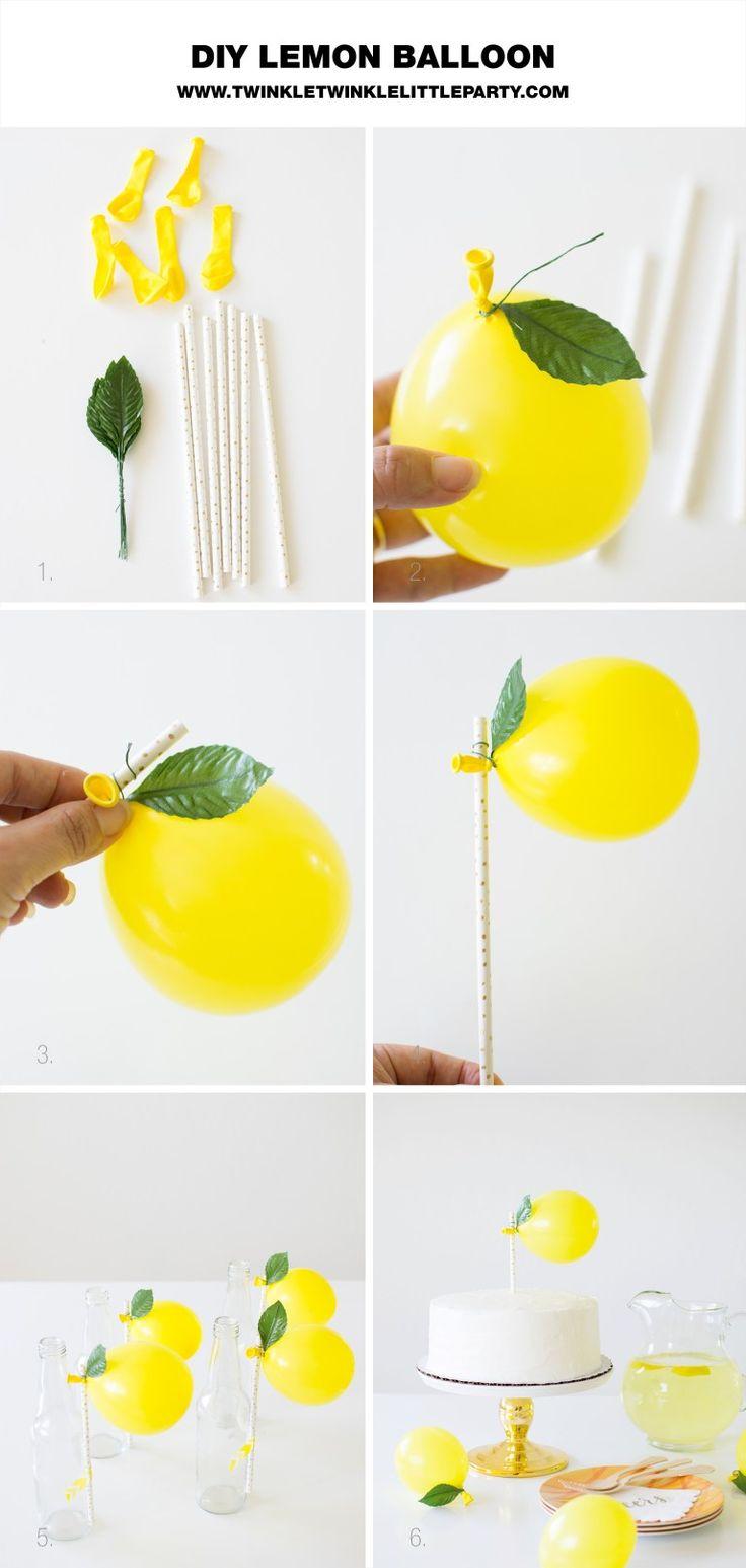DIY Lemon Balloon Party Decorations for your next celebration