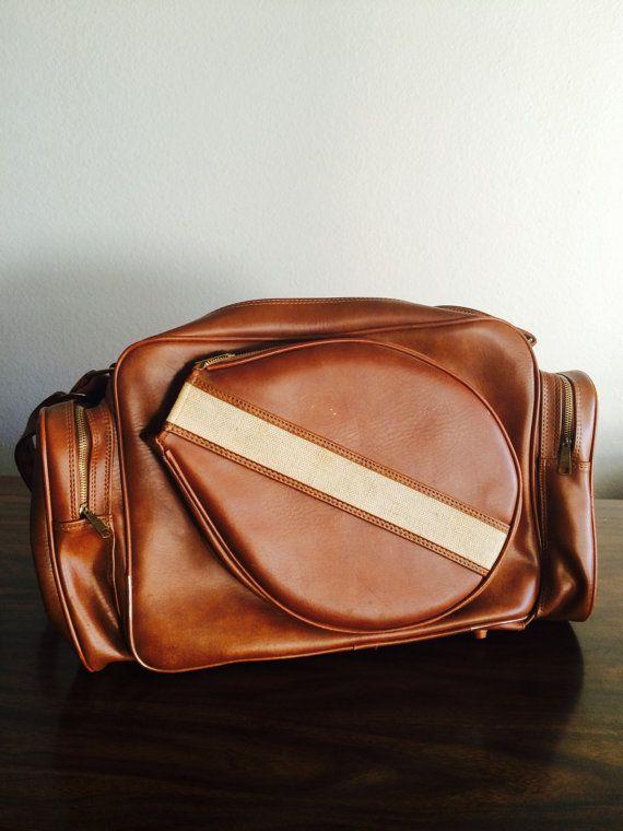 Vintage Tennis Bag by LitterandVintage on Etsy, $29.99