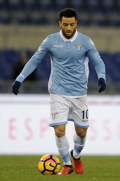 Felipe Anderson of SS Lazio in action during the TIM Cup match between SS Lazio and Genoa CFC  at Olimpico Stadium on January 18, 2017 in Rome, Italy.