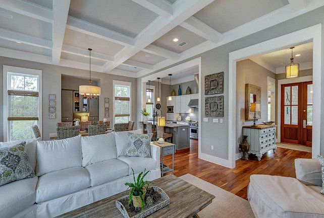 How to Paint an Open Floor Plan | Living Room | House, Beach house ...