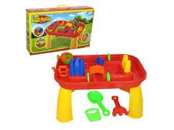 Sabbia e acqua Gioca Tavolo con sedia e accessori.: