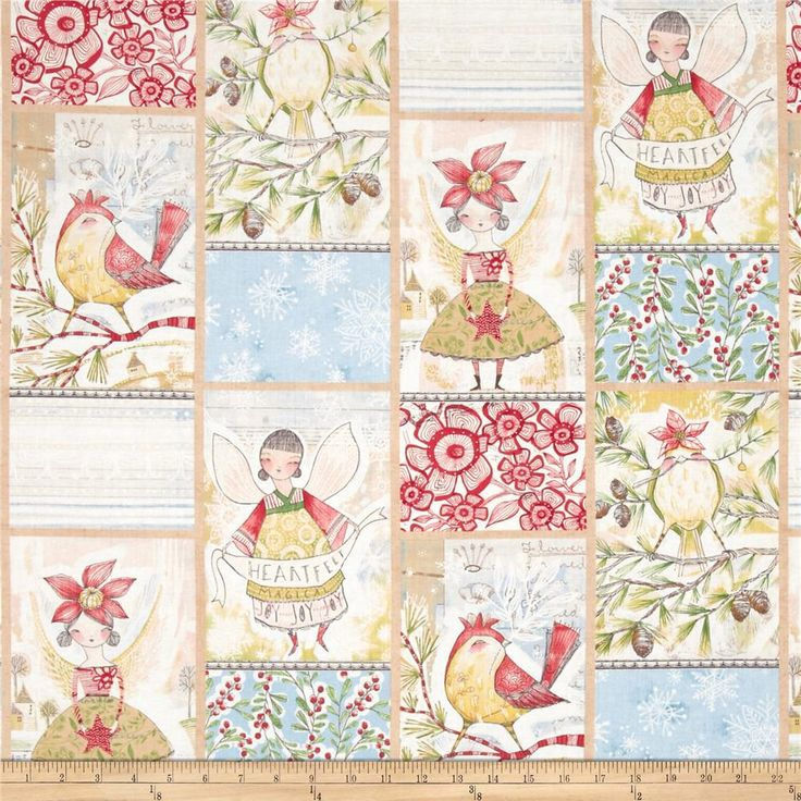 Merry Stitches Little World of Wonder Panel Multi from @fabricdotcom  Designed by Cori Dantini for Blend Fabrics, this cotton print fabric is perfect for quilting, apparel and home decor accents. Colors include gold, green, red, blue, grey and white. This panel measures 24'' x 44''.