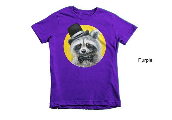 Racoon children t-shirt racoon kid's t-shirt animal by MimoCadeaux