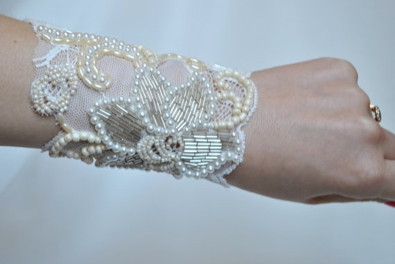 Bridal+Hand+Beaded+Cuff+Bracelet++'The+Silver+by+jogeorgedesigns,+£49.99