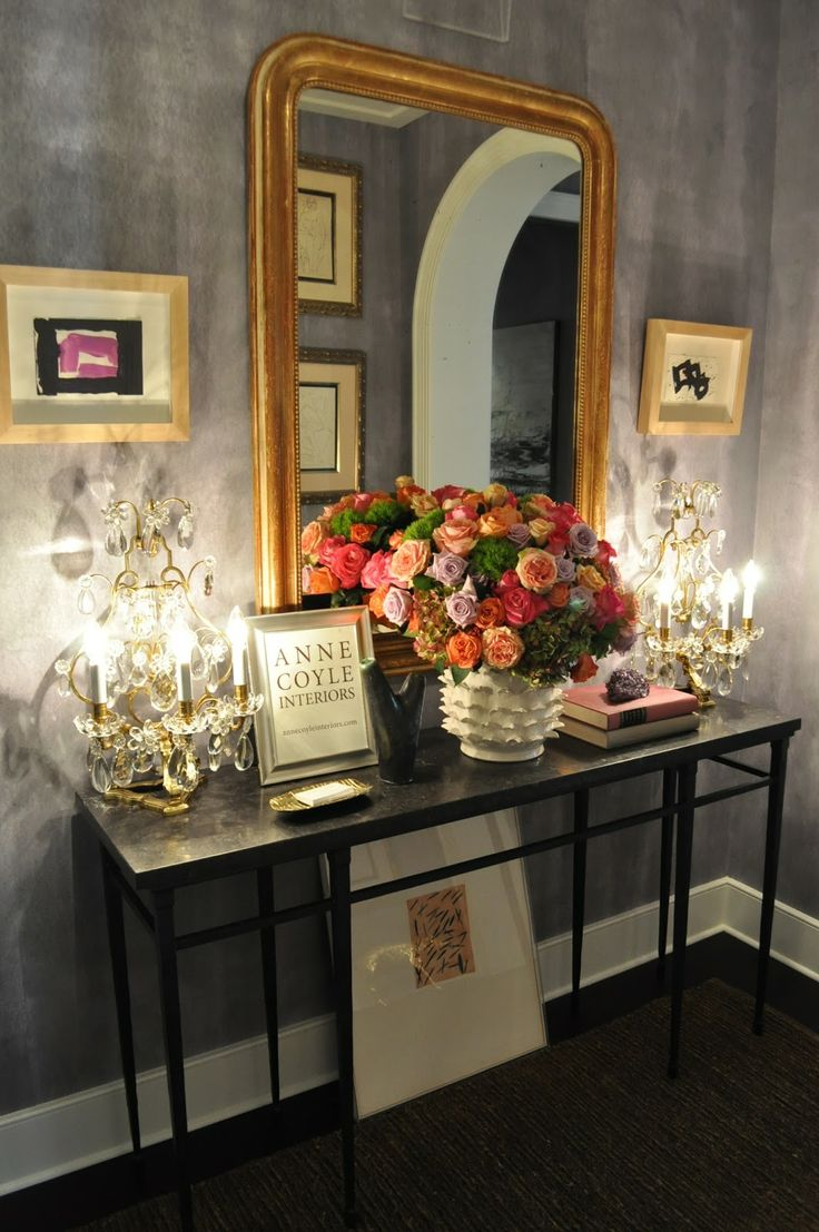Foyer hallway lighting traditional entry chicago by tower - Powder Room Foyer By Anne Coyle