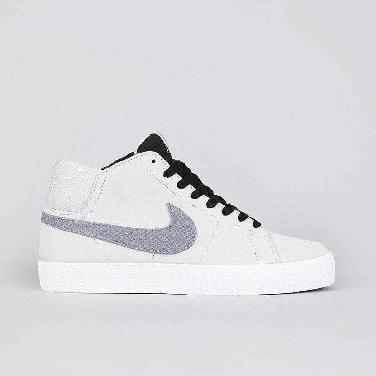 ++ Nike Sb Blazer Mid LR Strata Grey / Metallic Cool Grey