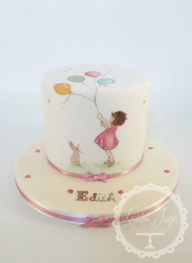 Belle and Boo Hand Painted Cake
