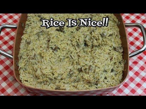 Fresh Mushroom and Rice Pilaf ~ Make Ahead Thanksgiving ~  Holiday Recip...