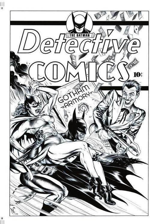 Detective comics cover recreation by Dave Stevens. #dc #batman