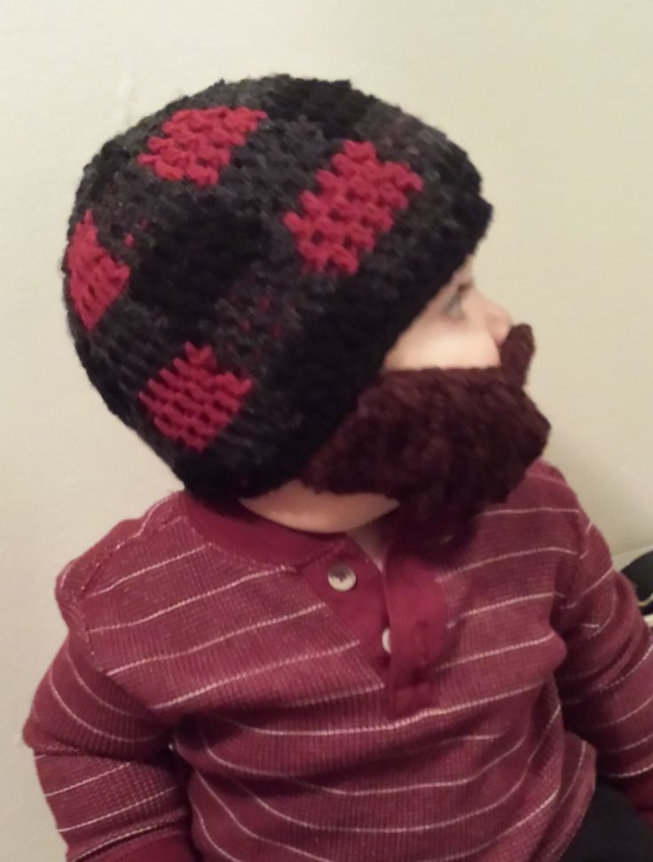 Lumberjack Bearded Beanie with detachable beard - red buffalo plaid for baby and kids- Birthday Party gift, Christmas, fun theme by NataliesBurlapSack on Etsy https://www.etsy.com/listing/222342753/lumberjack-bearded-beanie-with