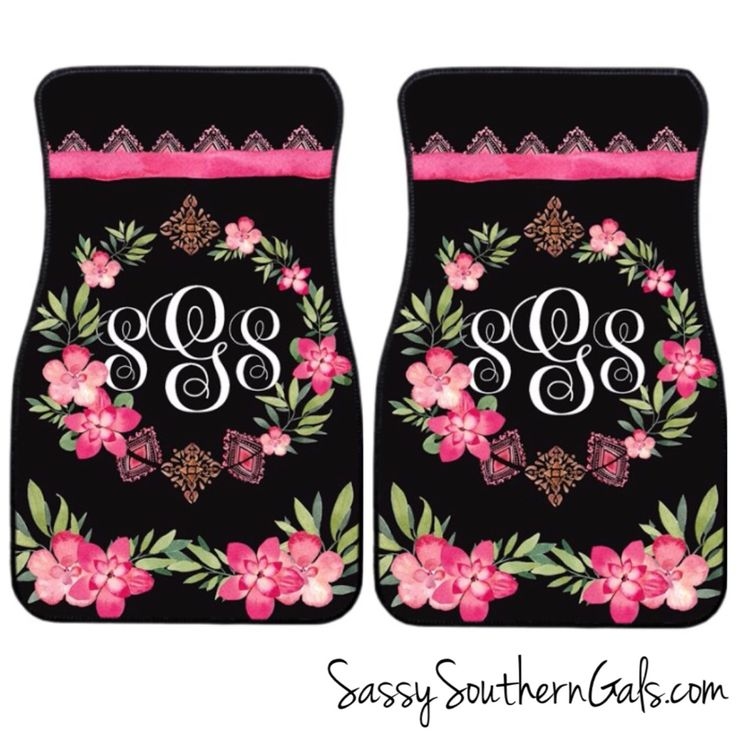Monogram Car Accessories |Monogrammed Gift | Boho Car Accessories | Personalized Car Mats by SassySouthernGals on Etsy https://www.etsy.com/listing/168956325/monogram-car-accessories-monogrammed