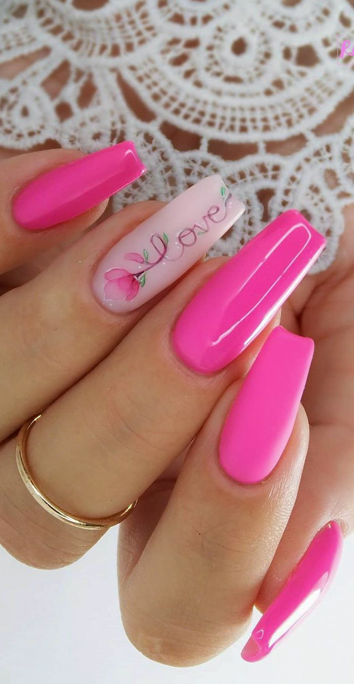 Adorable Long Pink Nail Arts And Designs For Women 2020 Absurd Styles Bling Acrylic Nails Pink White Nails Classic Nails