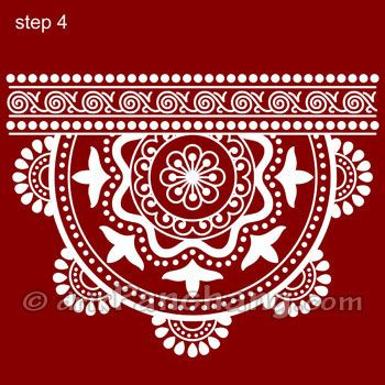 These Rangoli designs are protected under copyright and should not be used for commercial purpose.